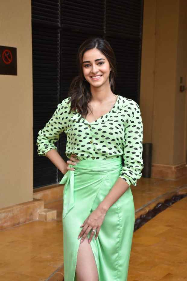 Ananya Panday, Bhumi Pednekar And Kartik Aaryan For 'Pati Patni Aur Woh' Promotions