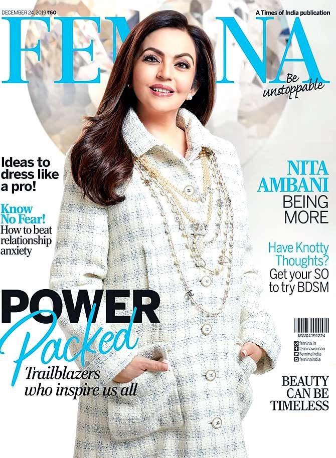 Gorgeous Nita Ambani Covers Femina Magazine
