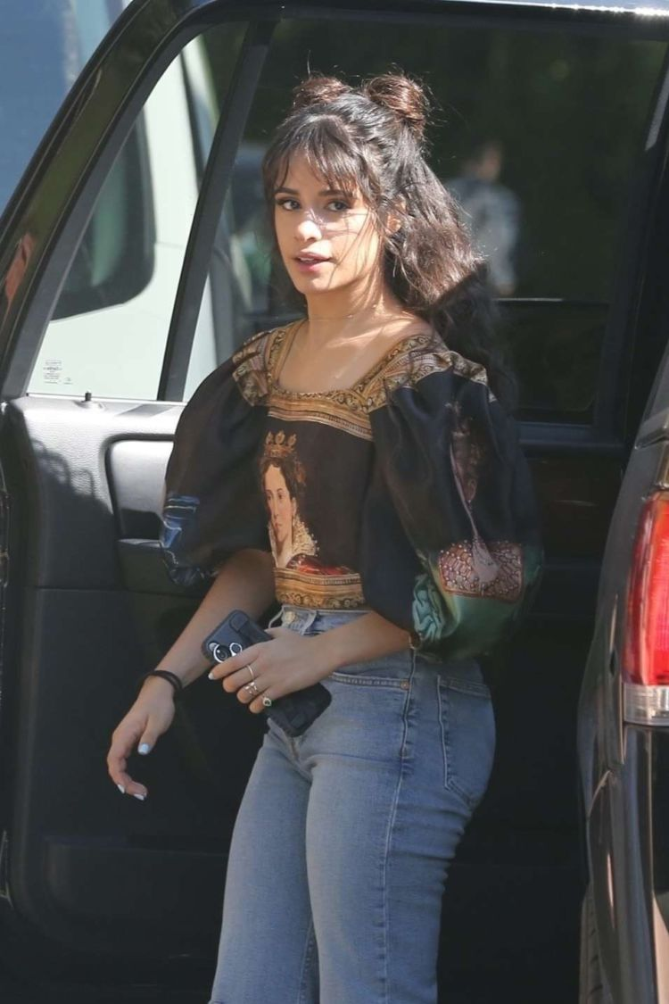 Camila Cabello Spotted In Jeans While Arriving For A Photoshoot In Los Angeles