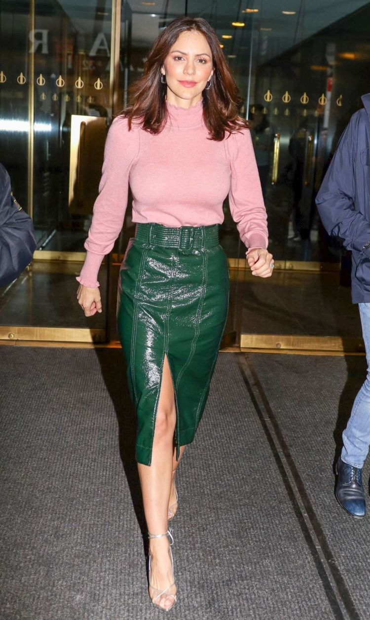 Katharine McPhee Spotted Leaving The Today Show In New York