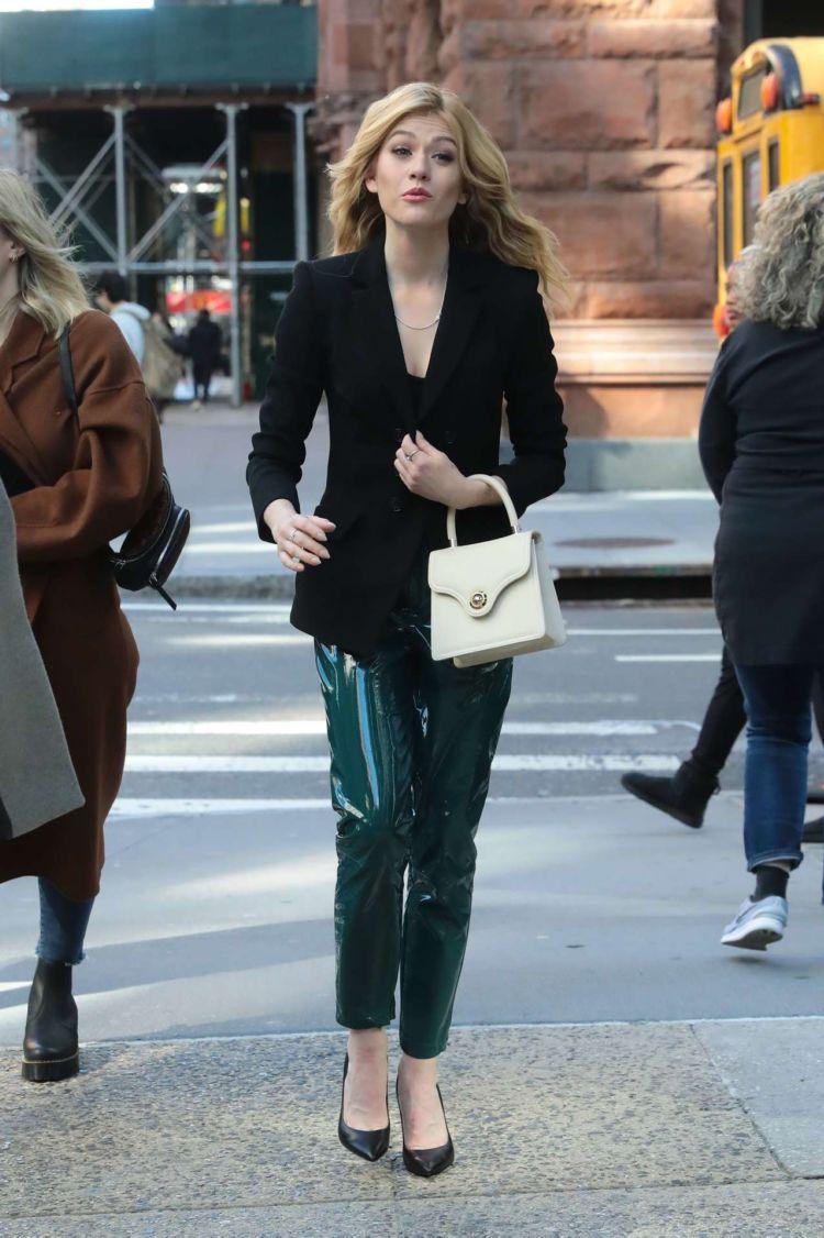 Beautiful Katherine McNamara Arrives At AOL Build Series Studios In New York