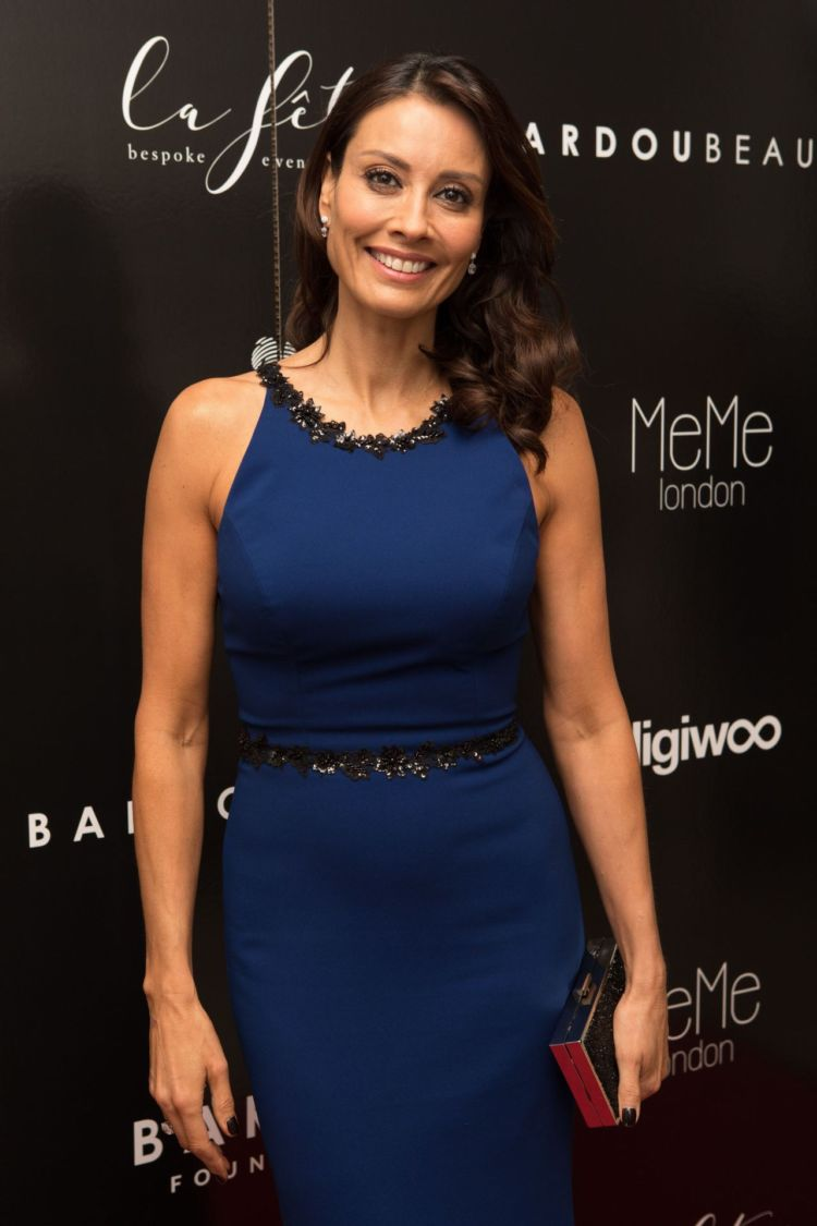 Melanie Sykes In Blue For Bardou Foundation's Women's Day Gala
