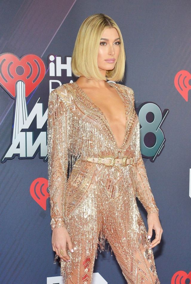 Hailey Baldwin Attends The iHeart Radio Music Awards 2018