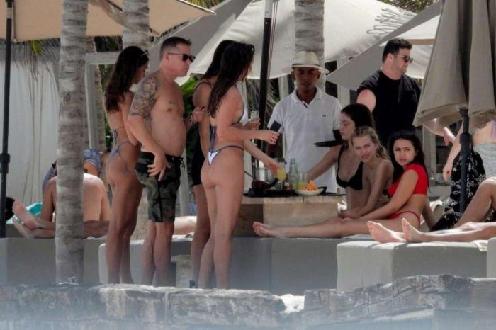 Kateri Dion Vacationing In Bikini At A Beach In Tulum
