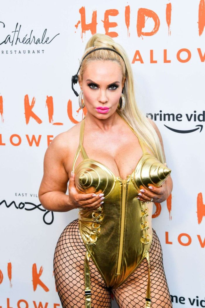 Nicole 'Coco' Austin Attends Heidi Klum's 20th Annual Halloween Party